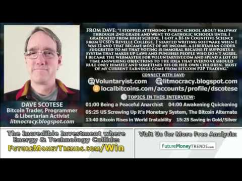 Holding Your Wealth 1/3 each in Gold, Silver & Bitcoin - Dave Scotese, Bitcoin Trader