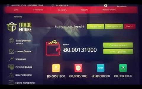SCAM TradeFuture  0.2083% hourly. Нет Выплаты на кошельки Bitcoin и Perfect Money
