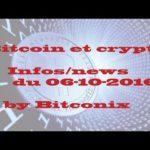 Les infos du  Bitcoin et des cryptomonnaies du  06/10/2016