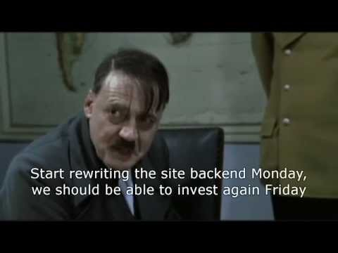 Hitler finds out Just-Dice is shutting down