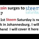 Bitcoin surges past $650! Intriguing Steem Saturday news. I will be there covering it!