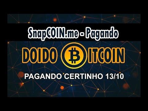 SnapCoin - Dobre Seus Bitcoin, 1% por Hora! CORRE BOT TELEGRAM!! [SCAM]