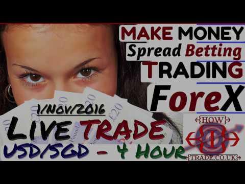Make Money Online, Forex Trading from Home LIVE TRADE - USDSGD – 1 Nov 2016