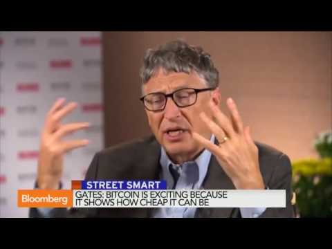 Bitcoin is Better than Currency - Bill Gates Interview Bloomberg