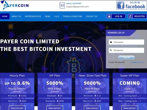 SCAM Payercoin 0.2%-0.6% Hourly Bitcoin,Payeer,Perfect Money. Очередная выплата.