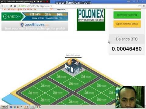 Withdraw crypto city FREE 0.001 btc daily