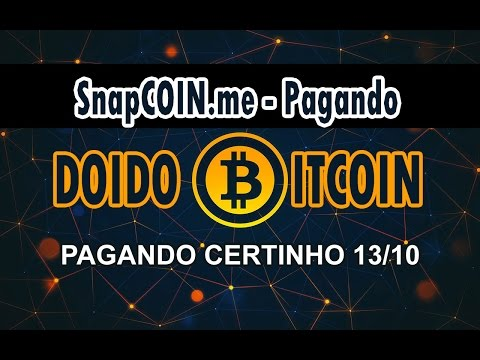 SCAM NÃO ENTRE SnapCoin - Dobre Seus Bitcoin, 1% por Hora! CORRE BOT TELEGRAM