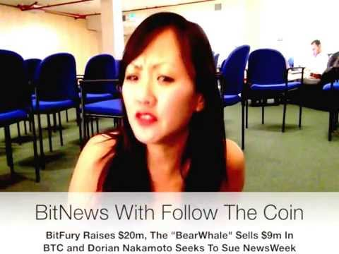 "BitFury Raises $20m, The ""BearWhale"" Sells $9m of Bitcoin, Dorian Nakamoto Seeks To Sue NewsWeek"