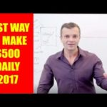 Best way to make money online fast 2017 easy $500 daily