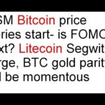 MSM Bitcoin price stories- is FOMO next? Litecoin Segwit surge, BTC gold parity will be momentous