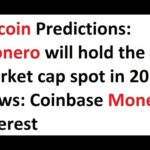 Bitcoin Predictions: Monero will hold the #2 market cap spot in 2017. News: Coinbase Monero interest
