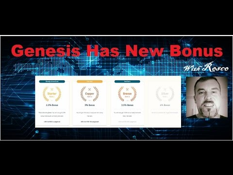 Bitcoin Cloud mining 2017 in Genesis & Dragon mine  affiliate Bonuses Update With Rosco in Australia