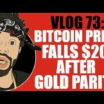 VLOG 73: BITCOIN PRICE FALLS $200 AFTER GOLD PARITY