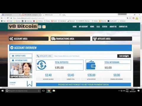 Site novo! V8 Bitcoin Pagando!