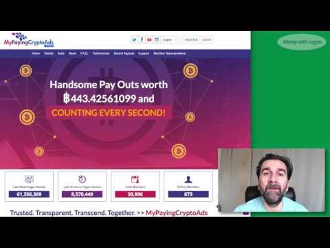 My Paying Crypto Ads MPCA – Day 41 is it scam? earn bitcoin 2017