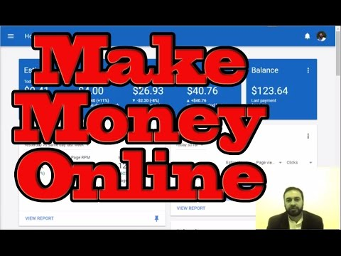 How to Make Money Online at Home | Google Adsense | Proof
