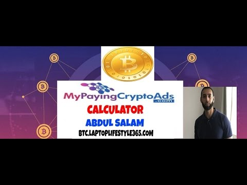 My paying crypto ads calculator review / scam make money online with Abdul Salam