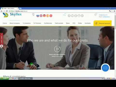 Skyllex prezentacja po polsku Zarabianie przez internet Kasa z neta BitCoin BTC 2017 MLM