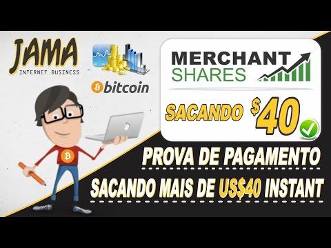 Merchant Shares - Fazendo um saque de US$ 40 instantâneo para o Payeer