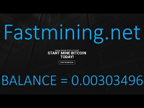 Fastmining.net Overview Tutorial ! Free 20 Gh/s Power ! Cloud Mining ! Free Bitcoin !