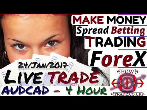 Make Money Online, Forex Trading from Home LIVE TRADE – AUDCAD Live Trade - 4H -24 Jan 2017
