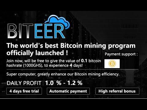 The World's Best Bitcoin Mining !! Hight Bonus Free 0.1 BTC !! Automatic Payment !!