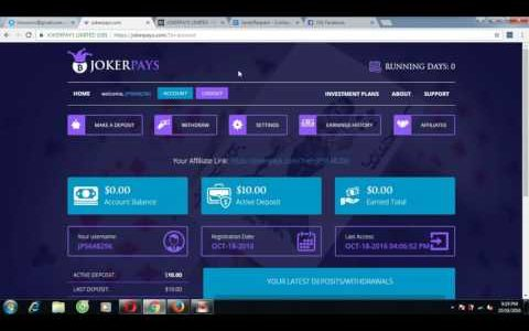 204 JokerPays offers one investment plan  Earn 300$ days with Jokerpay Scam site
