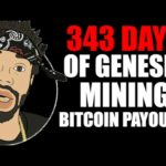 343 DAYS OF GENESIS MINING BITCOIN PAYOUTS