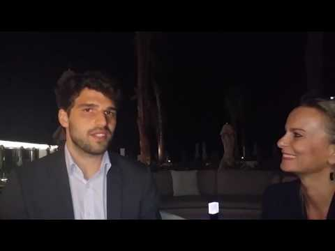 Claudia Eifert  Swiss Gold Global and  Marco Streng CEO of Genesis Mining