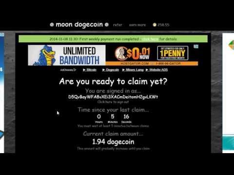 Bitcoin Dogecoin MoonDoge Луна Сбор бонусов