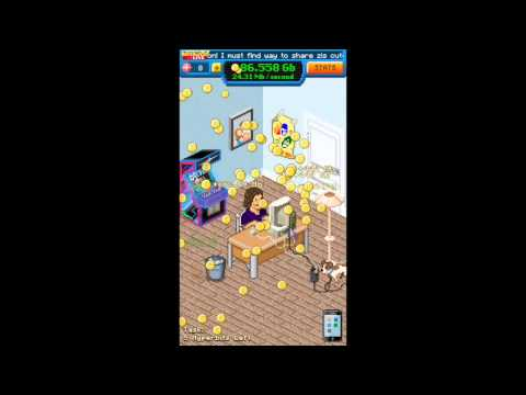 iOS game Bitcoin Billionaire 2nd movie (iPhone 6 plus)
