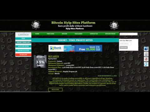 New Hyip sites   premium list altcoin list and scam site listing