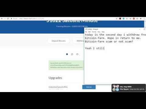Bitcoin-Farm scam or not? Part 2
