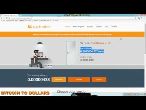 FREE Bitcoin mining pool | startMiner | Profit per day 0.0006 BTC