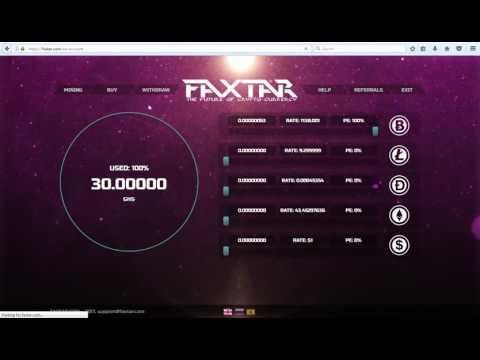 FAXTAR Bitcoin Mining 30 Ghs Free Bonus NO DEPOSIT