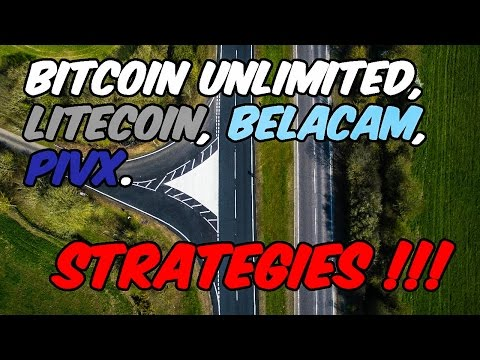 Bitcoin Unlimited, Litecoin, Belcam, and PIVX Strategies!!!