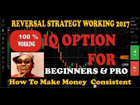 IQ Option Reversal Strategy - How to make money online for beginners -working 2017 -100% Guaranted
