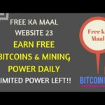 Earn Daily Bitcoins and Mining Power Free | Earn Bitcoins | Earn Free Money Online Daily