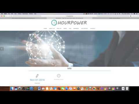 New Bitcoin Investment Cloud Mining Site!! HourPower!!(2017)