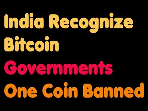 Bitcoin | India May Recognize Bitcoin - Government - One Coin
