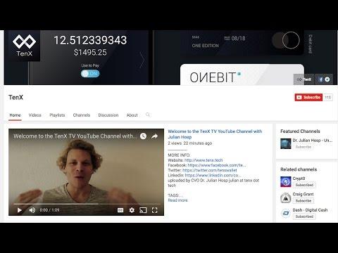 Du willst englische Bitcoin & Blockchain news ohne Scam und Abzocke? Join TenX TV with Julian Hosp!