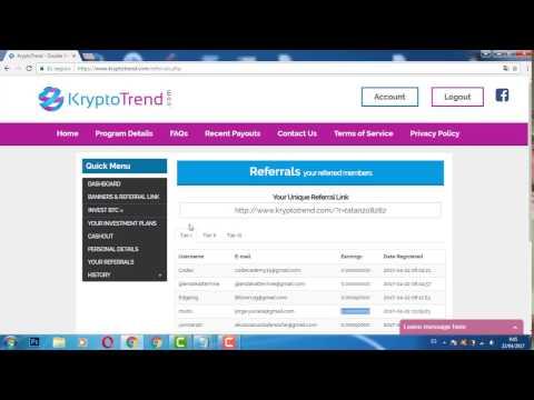 KryptoTrend En Español 0.005 bitcoin gratis ¿paga o scam?