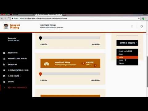 Genesis mining Guadagno online