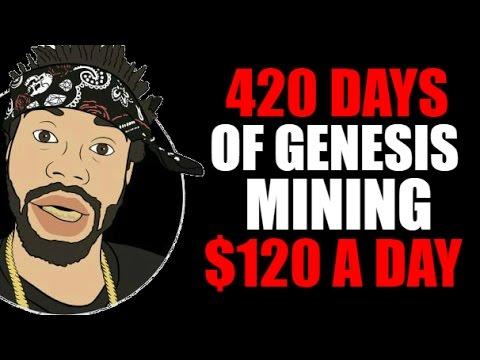420 DAYS OF GENESIS MINING BITCOIN PAYOUTS | $120
