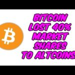 Bitcoin Lost 40% market Shares to Altcoins