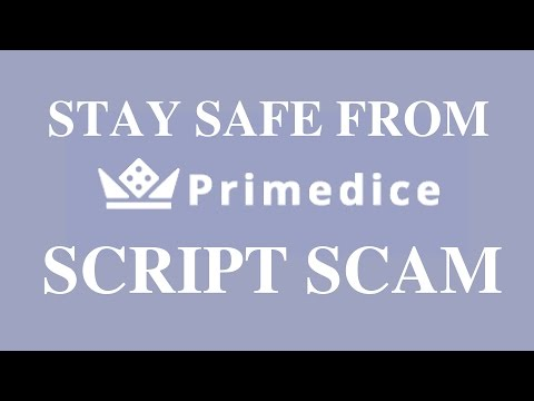 Stay away from primedice script scam