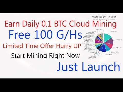 Earn Daily 0.1 Btc | vixice | Earn Bitcoin From Cloud Mining - Free Bitcoin Mining Power 100 Gh/s