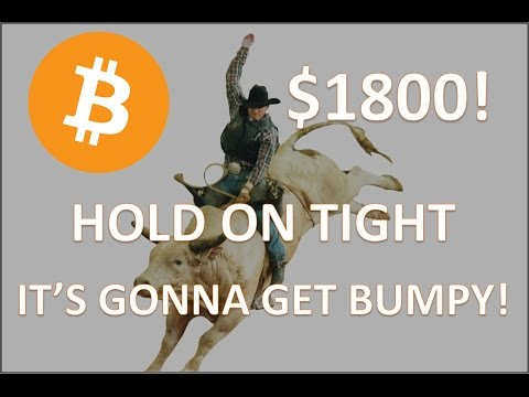 Bitcoin Blows Past $1700!  Ethereum, Litecoin & Ripple Getting Volatile - Charts!