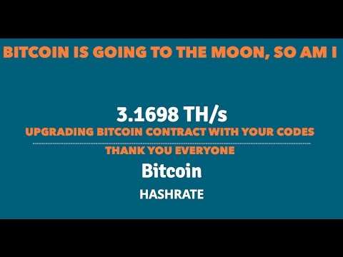 BITCOIN GOING TO THE MOON, SO AM I. GENESIS MINING BITCOIN CONTRACT UPGRADES .