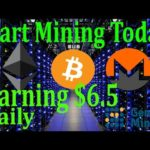 Start Mining Bitcoin!!Earning Daily $6.5 fully automatic